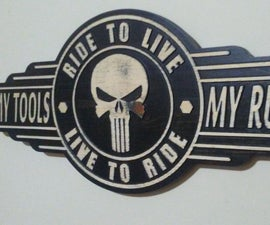 Punisher Skull Garage Sign