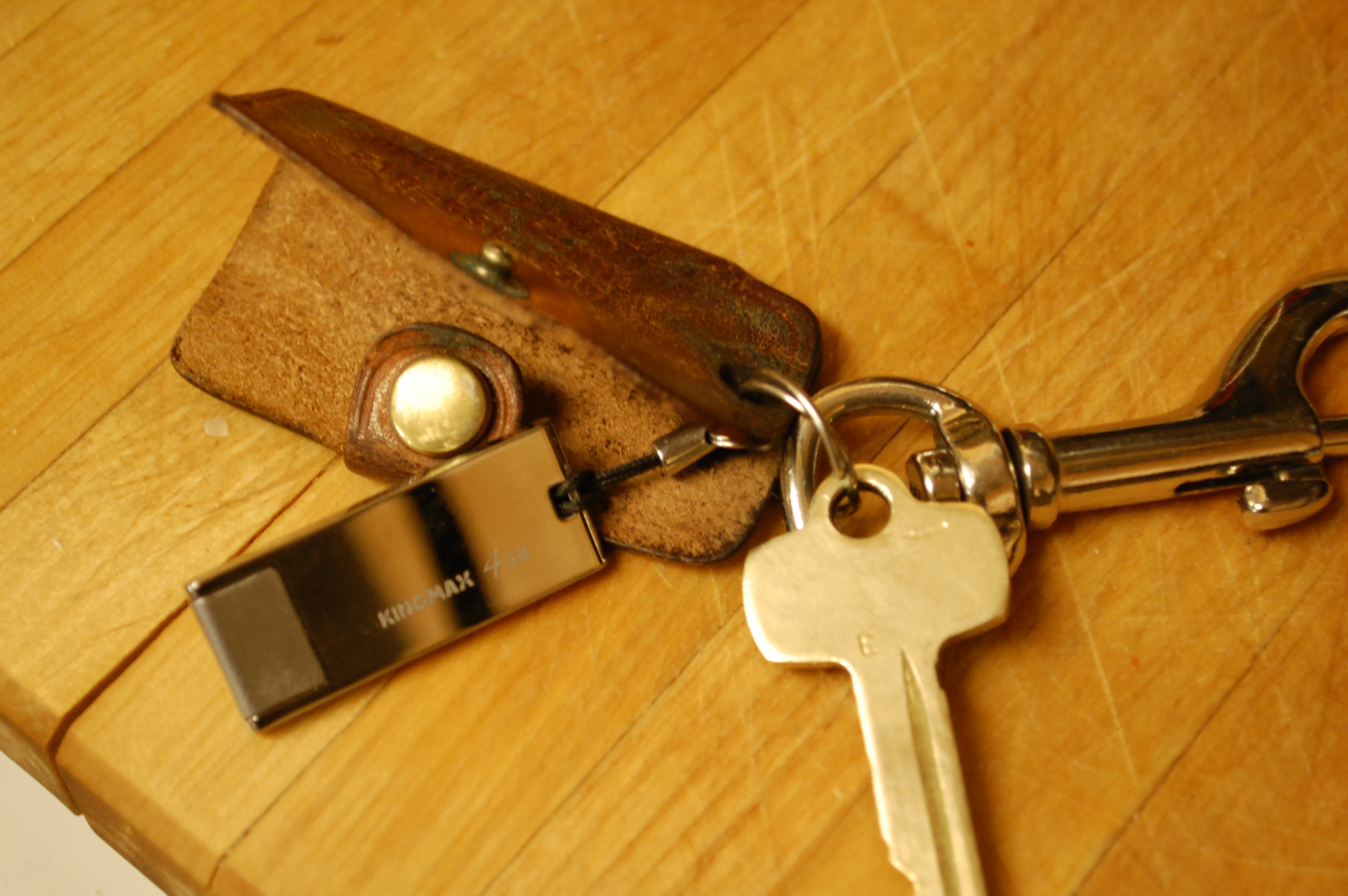 Picture of Leather Key Holder Flash Drive Case