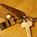 Leather Key Holder Flash Drive Case