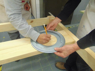 We Used a 'Lazy Susan' to Make Our Top Spin.. This Meant, a Lot of Measuring to Ensure a Precise Fit!