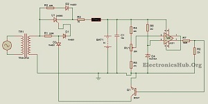 Picture of 9V Battery Charger Circuit Using LM311