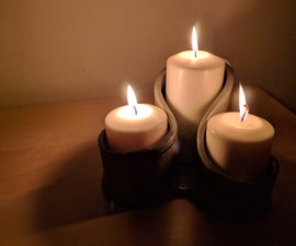 Clay Candle Holder