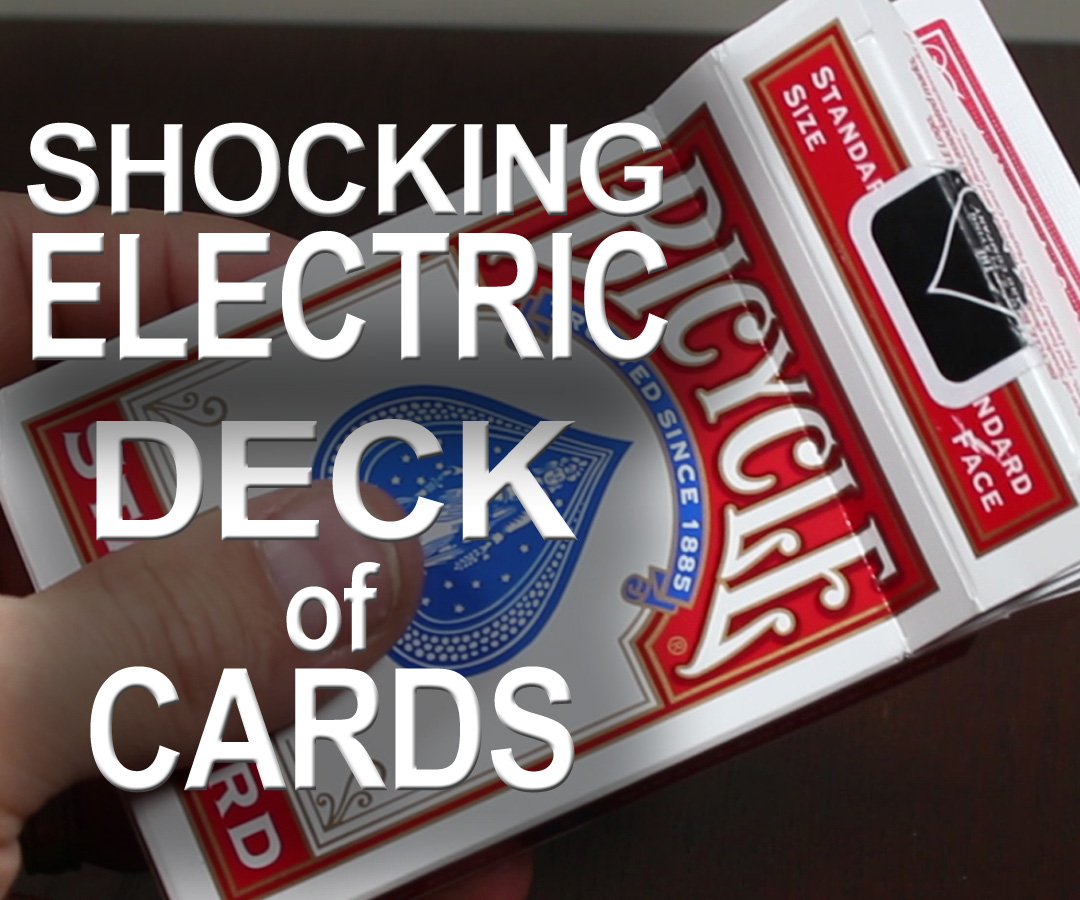 "Picture of 330 Volt ""Shocking"" Electric Deck of Cards!  - (Electric Shock Kissing Prank)"