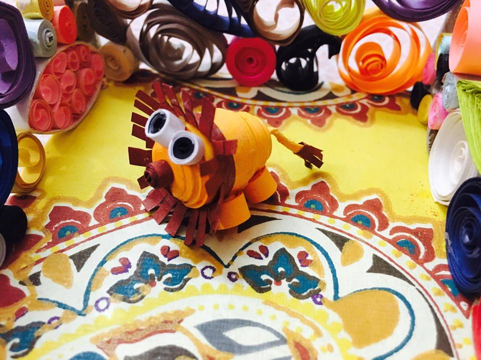 Picture of 3d Quilled Lion