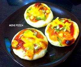 No Yeast Semolina Mini Pizza