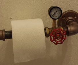 Steampunk Toilet Paper Dispenser