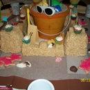 Rice Krispie Treats Sand Castle