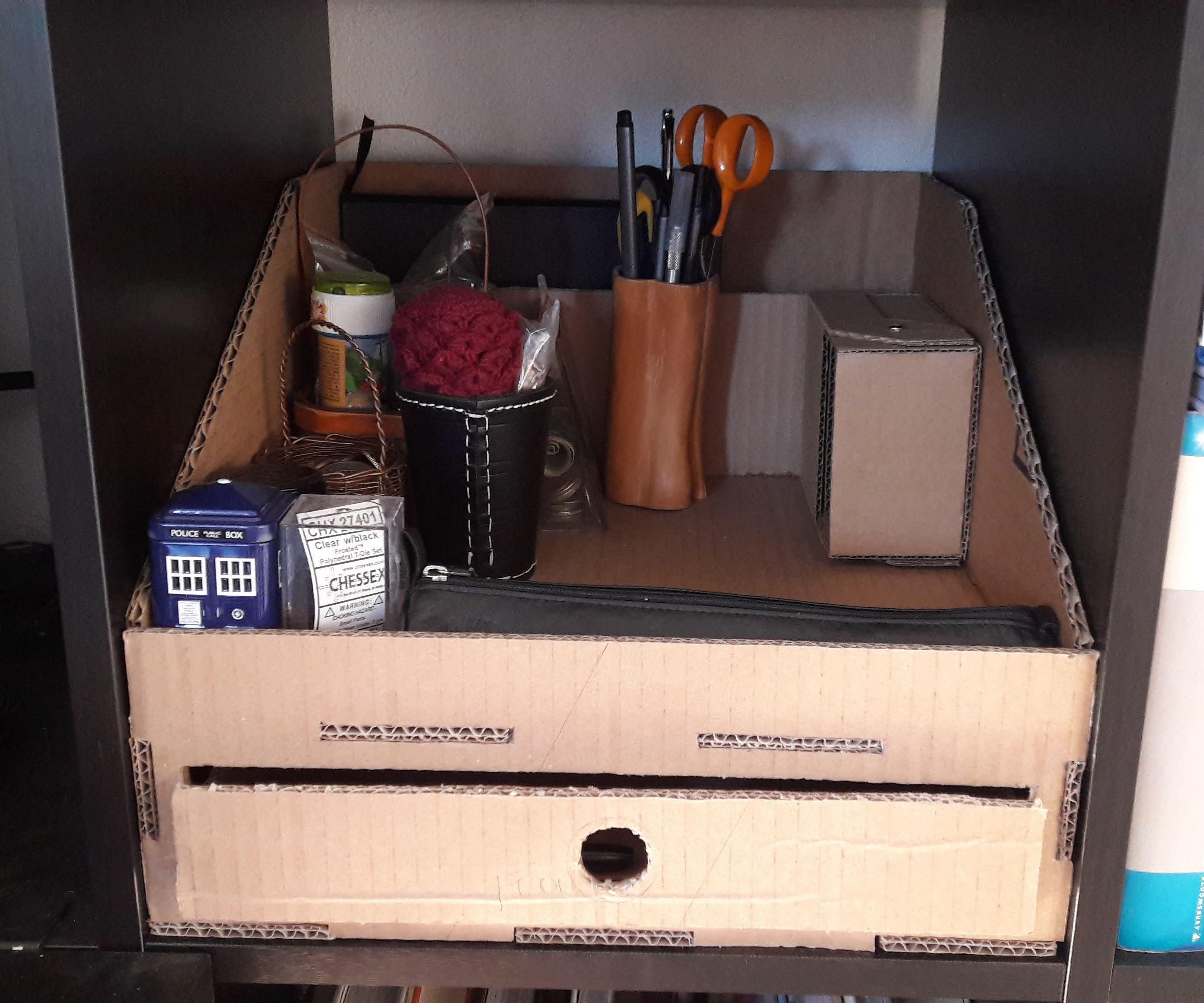 Cardboard Desktop Organizer for IKEA Kallax : 31 Steps - Instructables