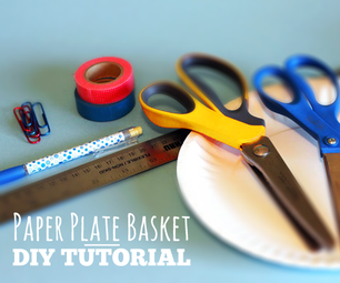 The Coolest Paper Plate Baskets Out There