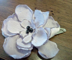 Layered Flower Hair Clips