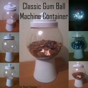 Cookie Gum Ball Machine Jar