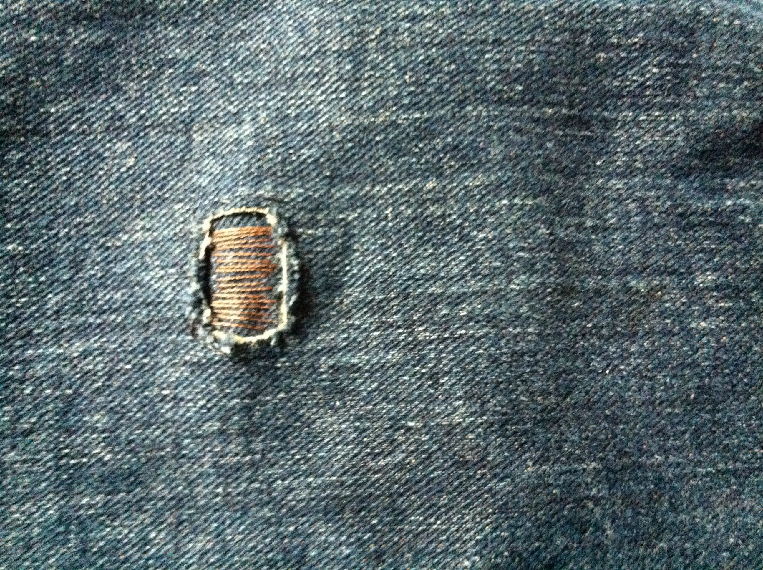 Picture of Patching Jeans; a Simple Instructable.