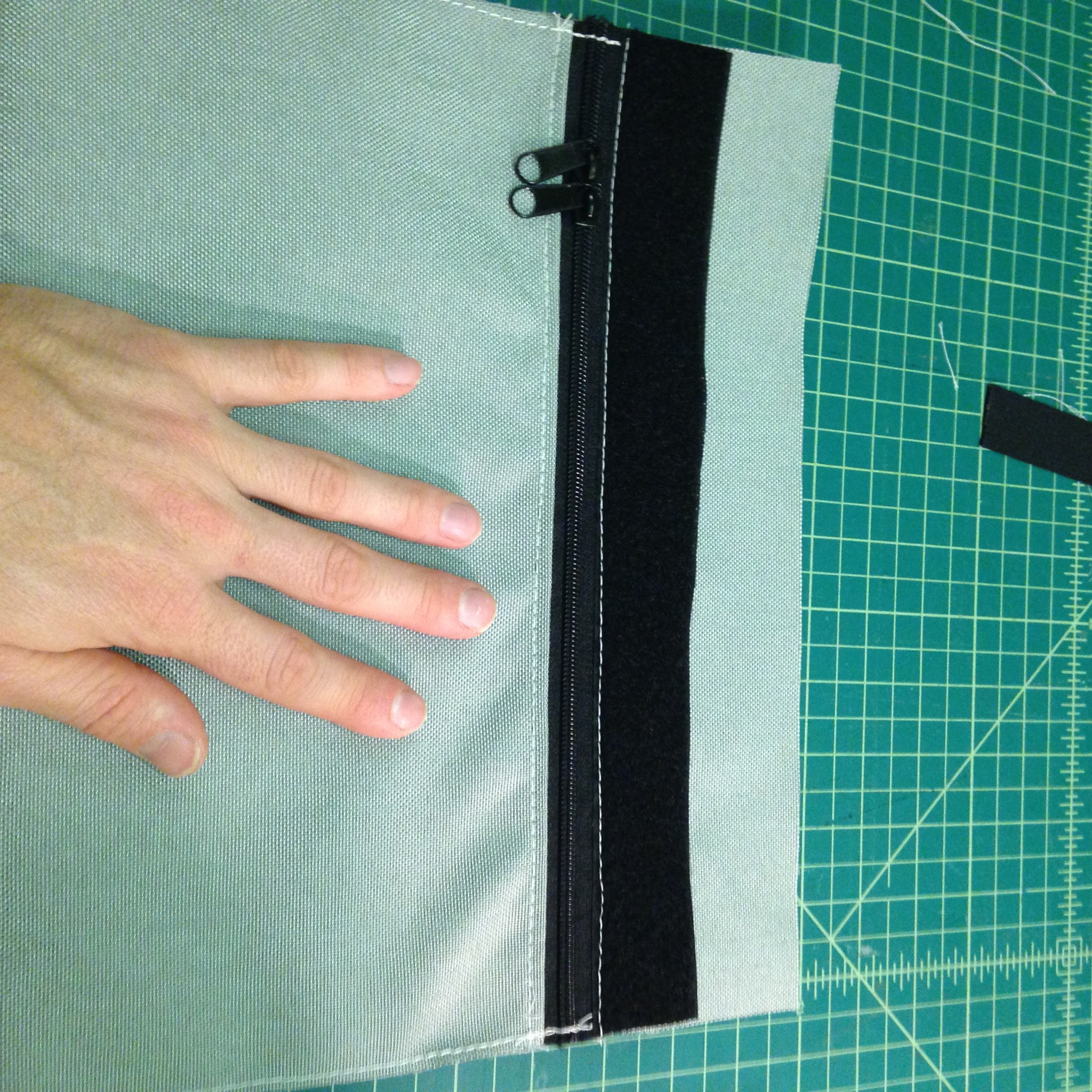 Picture of Sew on the Front Velcro and the Long Webbing