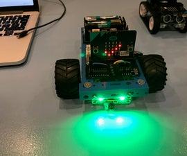 Object avoidance Microbit Robot using the Kitronik motor controller