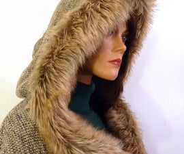 How to Make Faux (fake) Fur-Lined Wool Poncho