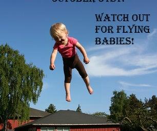 Flying Baby Halloween Poster
