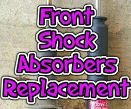 Changing front shock absorbers (Honda Civic 1999 EK3)!
