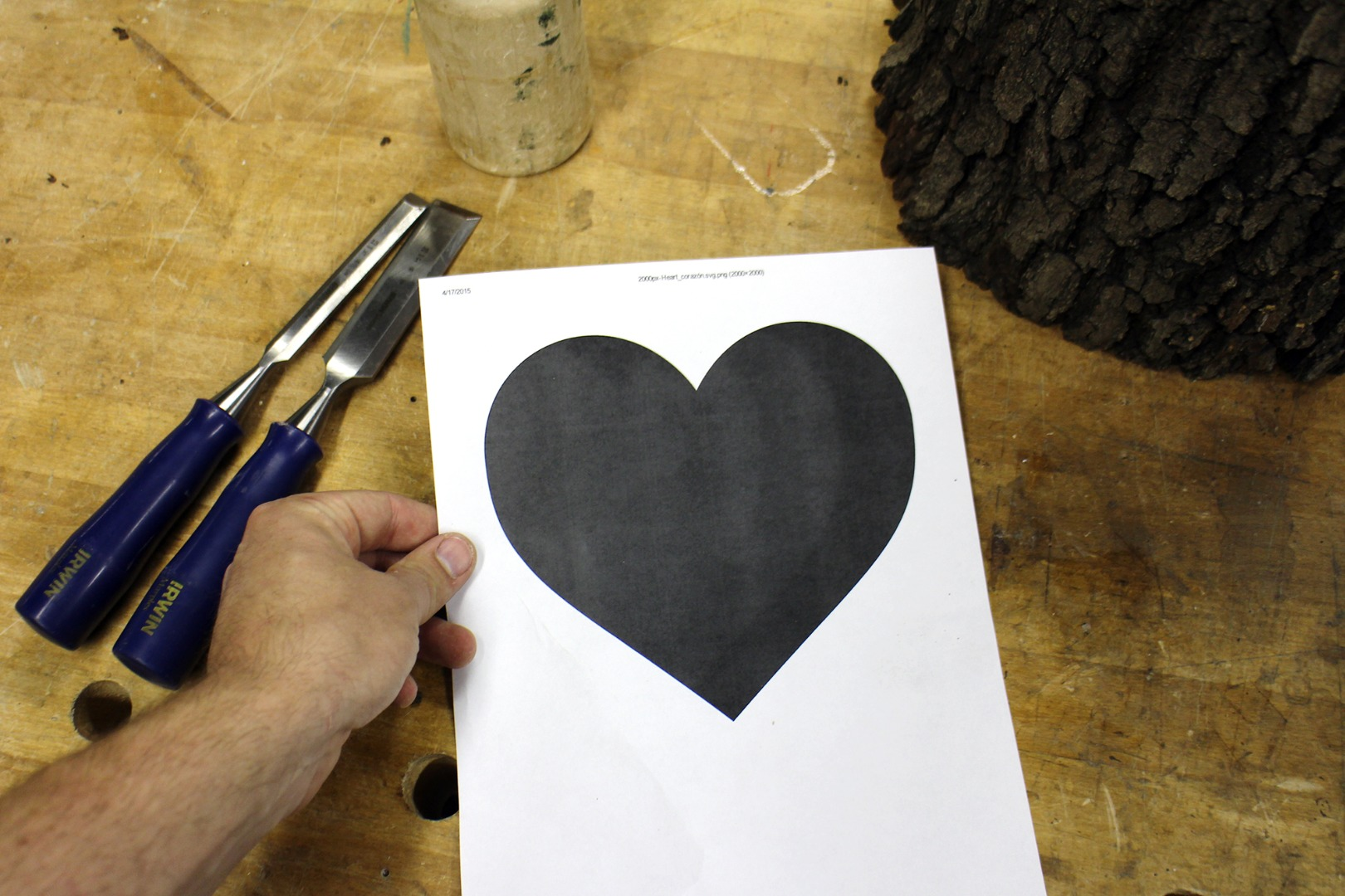 Picture of Heart Template
