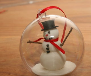 3D Printed Snowman in a Bauble,