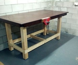 Workbench With Reclaimed Tabletop