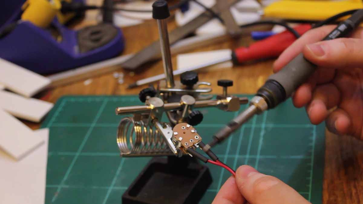 Picture of Soldering the on / Off Fan Speed Potentiometer
