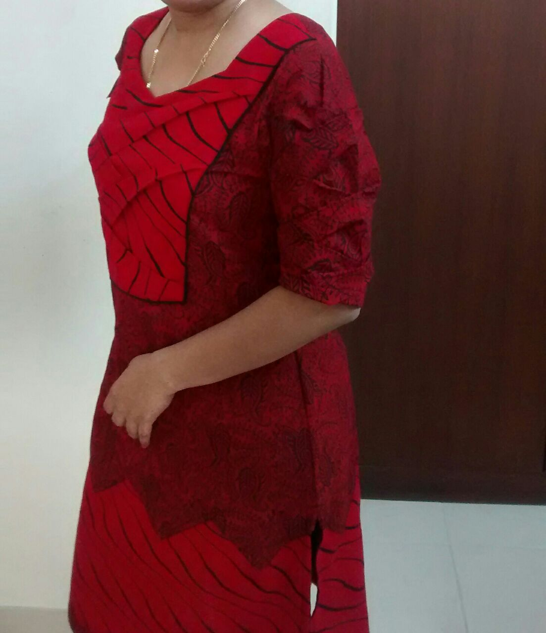 Picture of Origami Bamboo Sleeve and Yoke Dress