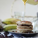 Coconut Raisin Pancakes (Grain & Gluten free, Nut free and Dairy free)