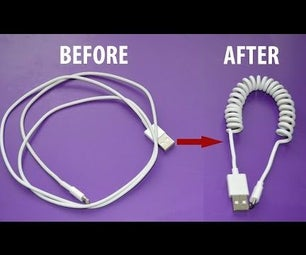 Transformer Un Câble Iphone Smartphone En Spirale - How to Coil Cell Phone Cord