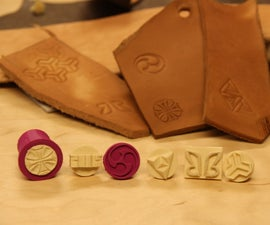 3D printed stamps for leather