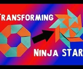 How to make an origami transforming Ninja Star (Shurriken)!