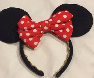 DIY Minnie Mouse Ears With Bow