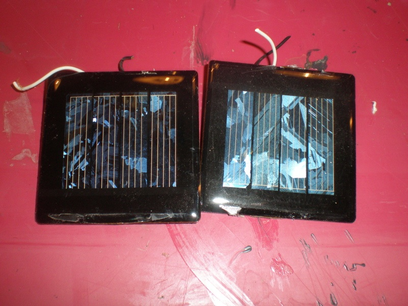 Picture of Solar Panel/battery Assembly