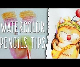 How to Use WATERCOLOR PENCILS: TIPS