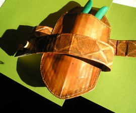 A Belt And Holster Made of Cardboard