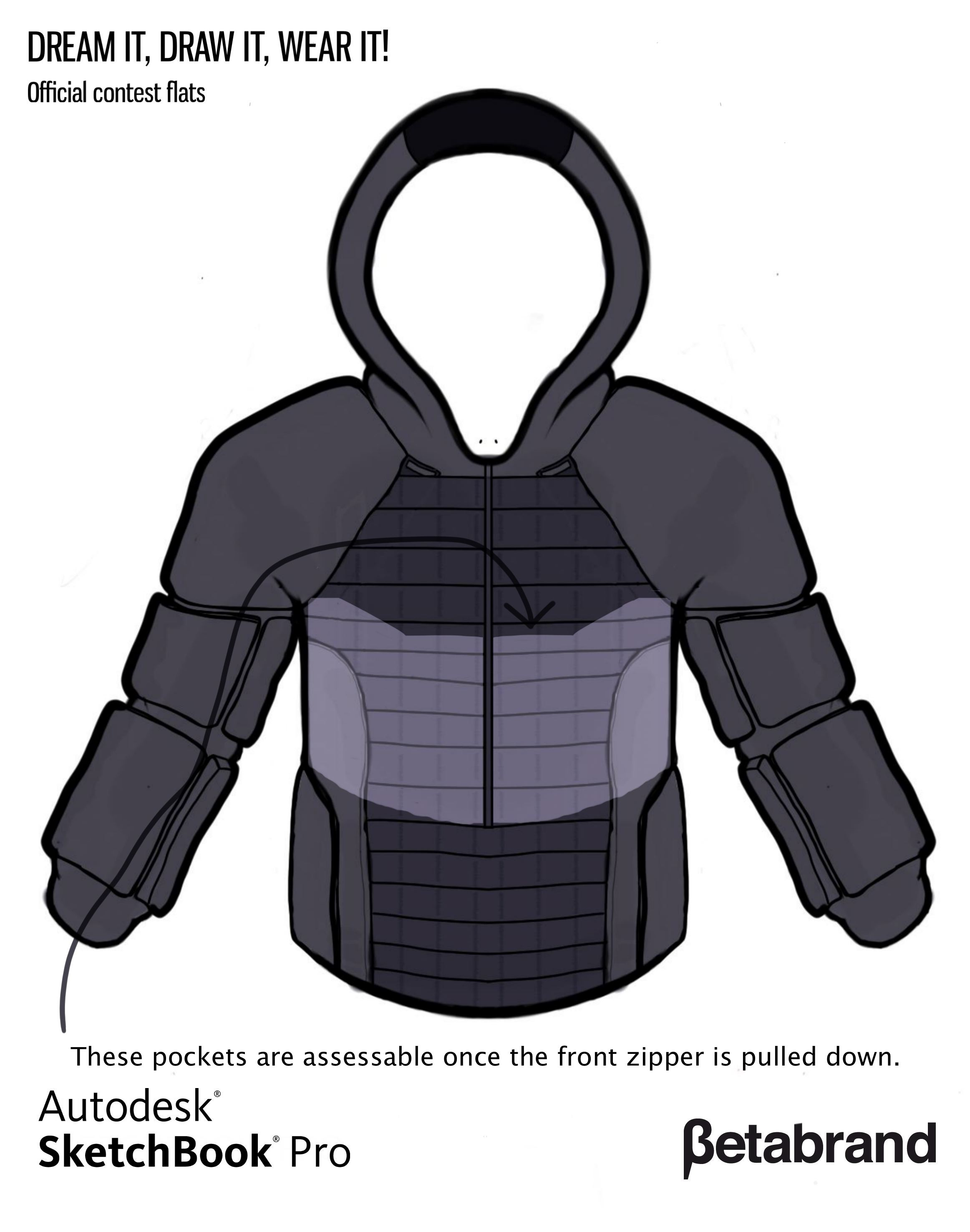 Picture of Detailed Description of Hoodie [Inner Top Middle Pocket Set]