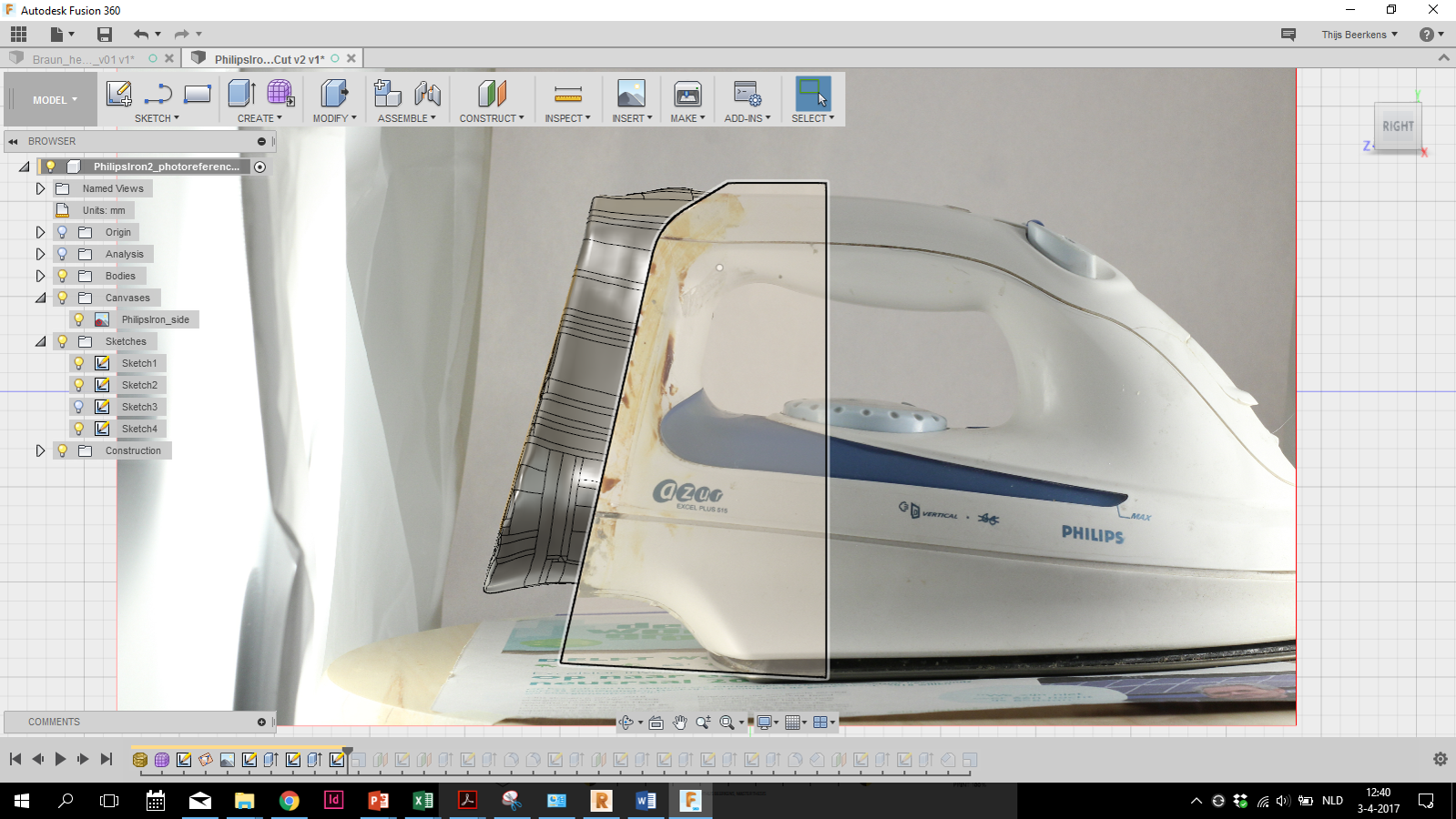 Picture of Altering Your Scan in Fusion 360