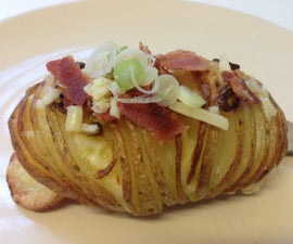 Quick and Easy Bacon Topped Hasselback Potatoes