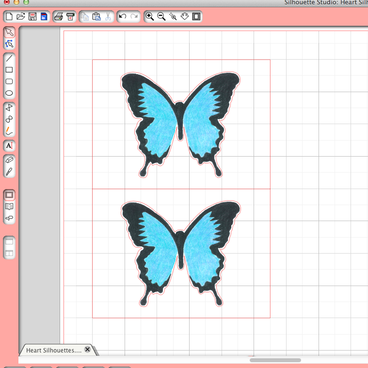 Picture of Andy Warhol Style Butterfly Card