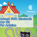 Adeept 3 WD Bluetooth Car Kit for Arduino