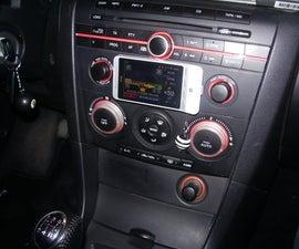 Magnetic phone holder for car.