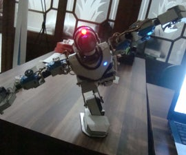Making a lowcost humanoid robot made from PVC water pipe material (upgrade)
