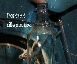 Portrait silhouette- esmerilado de vidrio