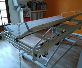 Motorized Bed for a Handicapped Person