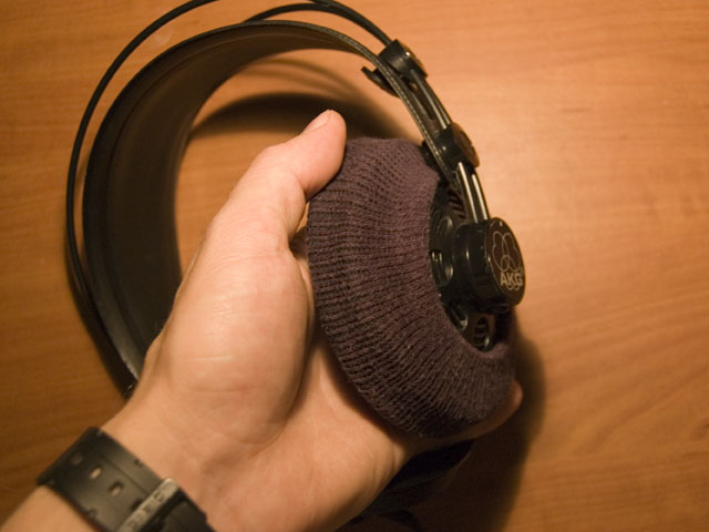 Picture of Sockophones - Earphone Padding Made From Socks