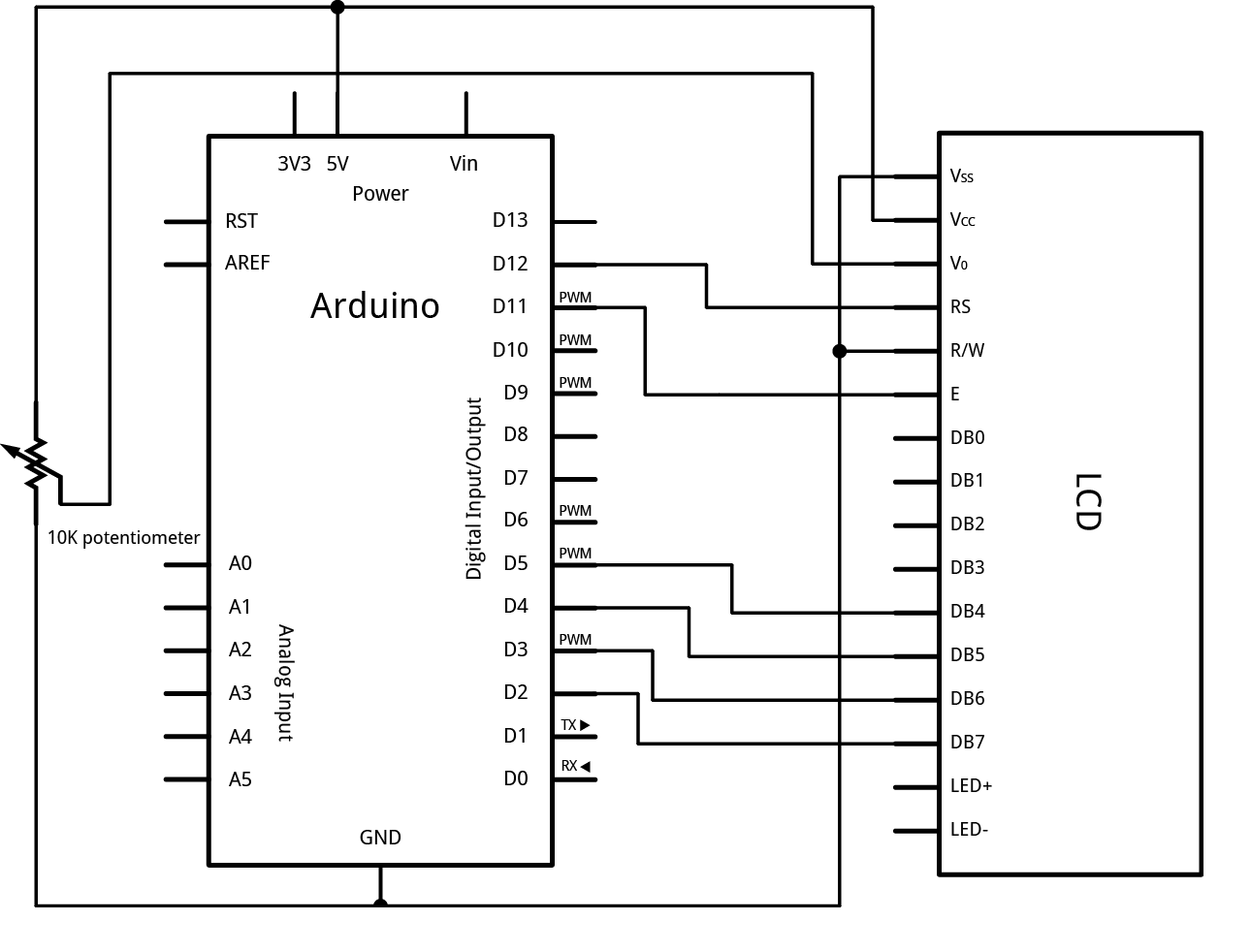 Picture of Connecting L.C.D to Arduino
