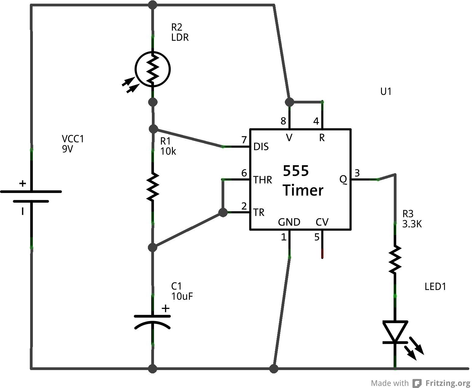 Picture of 555 Timer, Variable Blinking Light