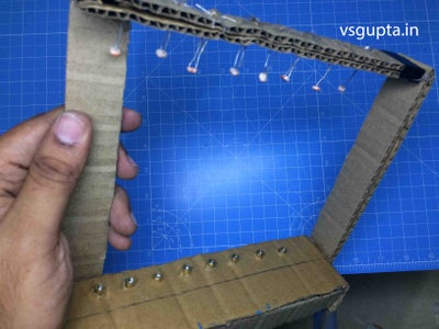 Second Step : Inserting and Attaching LDR and Laser Diode in the Cardboard