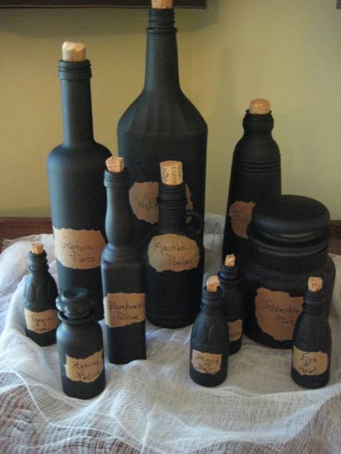 Witches Potion Bottles