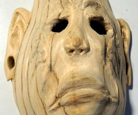 Make a full size wooden mask from a flat board using a bandsaw
