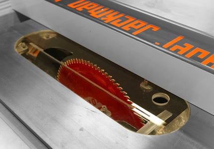 Transparent Table Saw